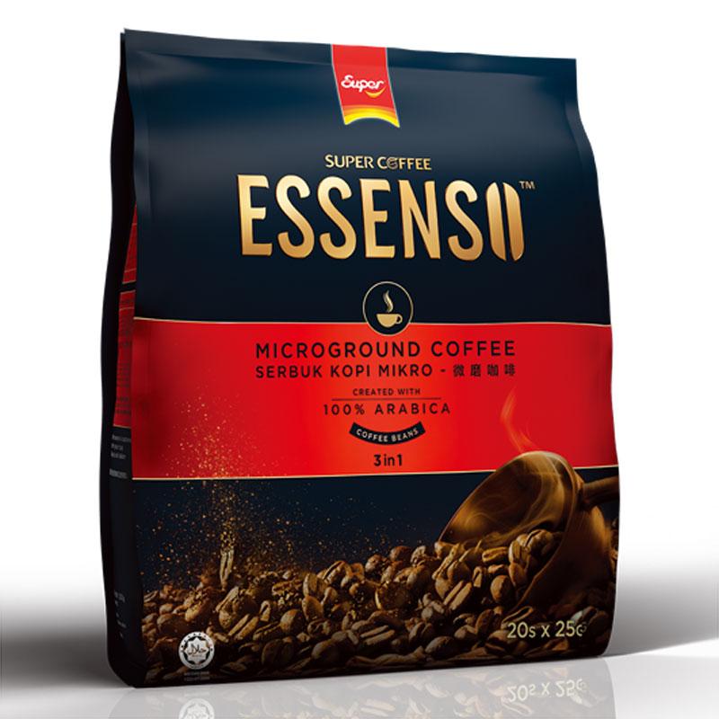 Super Coffee Essenso 3 In 1 Microground Coffee White